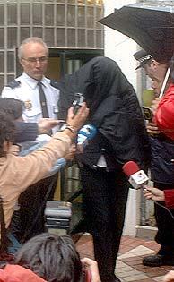 Maite Zaldívar, tras pagar la fianza. (Foto: EFE)