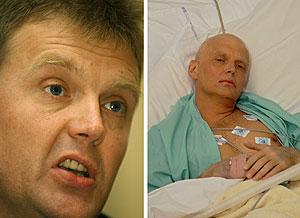 Alexander Litvinenko, antes y después de ser envenenado. (Foto: AFP)
