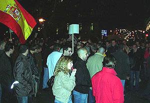 Los manifestantes, en el Paseo de la Castellana. (Foto: Pablo Romero)