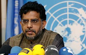 El relator de la ONU sobre Vivienda, Miloon Kothari. (Foto: EFE)