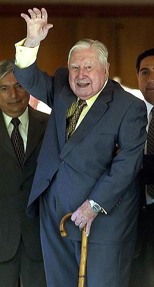 Pinochet, el pasado 25 de noviembre, el día que cumplió 91 años. (Foto: EFE)