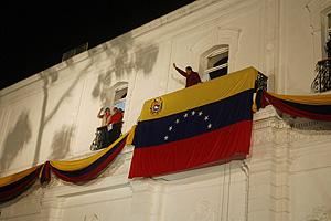 Hugo Chávez celebra su victoria electoral. (Foto: REUTERS)