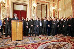 M.Marín durante su discurso oficial por el 27º aniversario de la Constitución. (Foto: Javi Martínez)