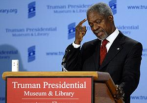 Kofi Annan durante su último discurso como Secretario General de la ONU. (Foto: REUTERS)