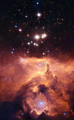La estrella gigante, vista con el telescopio 'Hubble'. (Foto: CSIC)