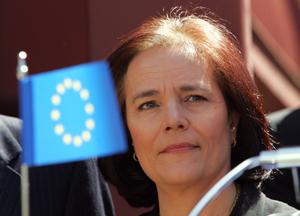 Loyola de Palacio, durante un acto de la UE en Madrid. (Foto: Ricardo Cases)