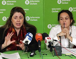 Ariane Arpa e Isabel Krenisler, en la presentación del informe. (Foto: EFE)