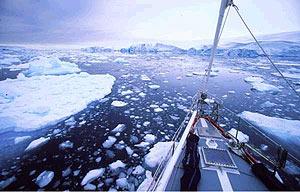 Proa del 'Santa María', el velero que descenderá al Polo Sur. (Foto: Expedición Inmovell)