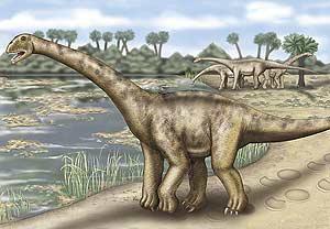 Recreación del dinosaurio gigante de Teruel. (Ilustración: Science)