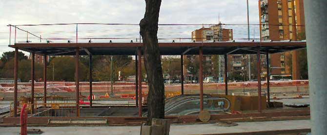 Obras de la ampliación de la línea 3. (Foto: Asociación de vecinos el Espinillo)