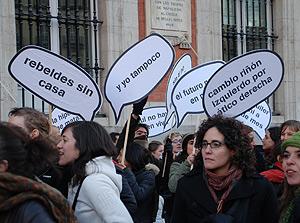 Las pancartas con forma de 'bocadillo' ya son típicas de estas manifestaciones. (Foto: S.R.S.)