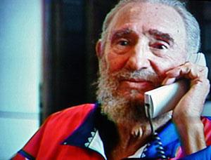Fidel Castro en su última aparición pública, el pasado 28 de octubre. (Foto: AFP)
