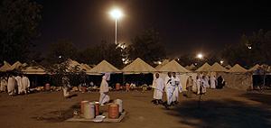 Tiendas en las que descansan los musulmanes en el monte Arafat. (Foto: AFP)