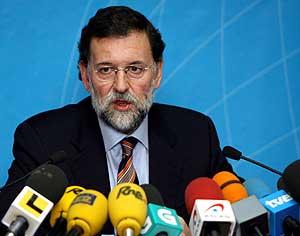 Mariano Rajoy, en Pontevedra. (Foto: EFE)