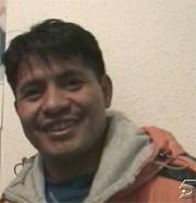 Imagen de Telecinco del ecuatoriano Diego Estacio Civizapa.