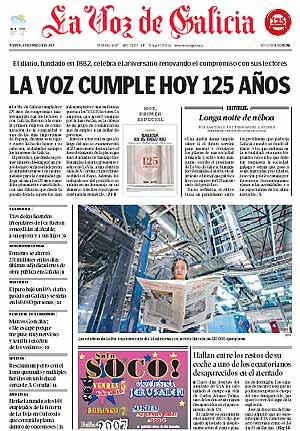 Portada de La Voz del 4 de enero.