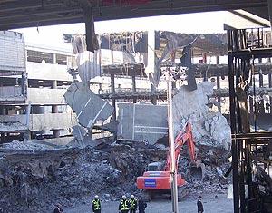 Estado del módulo D del aparcamiento, cinco días después de la explosión. (Foto: P.D. Sotero)