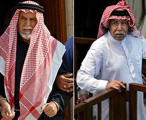 Dos de los condenados, Awad Al Bandar (izda) y Barzan al Tikriti. (Foto: EFE)