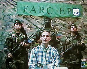 Imagen de Araújo en un vídeo de las FARC de 2005. (Foto: AFP)
