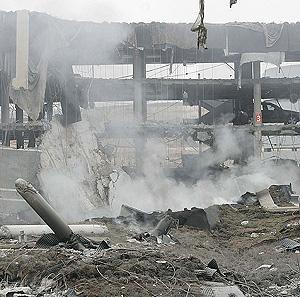 La zona donde estalló la bomba, entre escombros. (Foto: EFE)