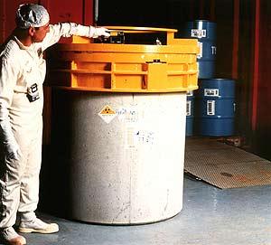 Un contenedor de material radiactivo. (Foto: Foro Nuclear)