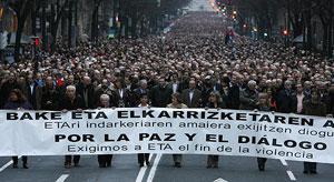 Cabeza de la manifestación. (Foto: AFP)
