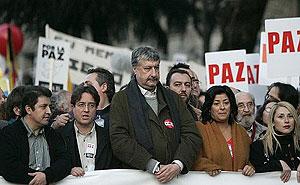 Imagen de la marcha convocada por los sindicatos. (Foto: EFE)