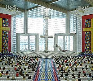 Una espectacular catedral de Lego construida por Amy Hughes (Foto: Amy Hughes)