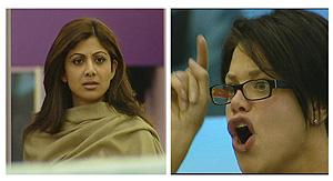 Shilpa Shetty (iz) y Jade Goody . (Foto: REUTERS)
