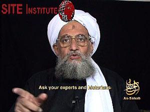 Imagen del nuevo vídeo del número dos de Al Qaeda. (Foto: SITE)