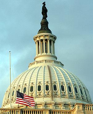 Imagen del Capitolio donde Bush ha pronunciado su discurso. (Foto: REUTERS)