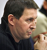 Otegi, en la rueda de prensa posterior al atentado. (Foto: EFE)