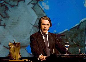 José María Aznar, en en el Kursaal de San Sebastián. (Foto: Justy García Koch)