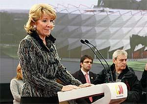 Esperanza Aguirre, durante el acto de presentación del campus. (Foto: elmundo.es)
