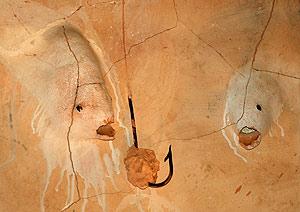 Uno de los detalles del retablo cerámico de Miquel Barceló. (Foto: AFP)