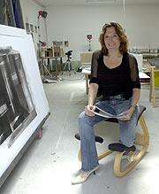 Cristina Iglesias, en 2003. (Foto: Carlos Miralles)
