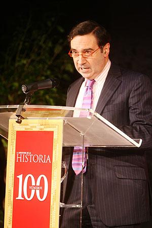 Pedro J. Ramírez durante su intervención. (Foto: Alberto Cuéllar)