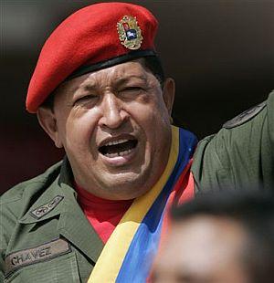 Hugo Chávez, durante la celebración. (Foto: AP)