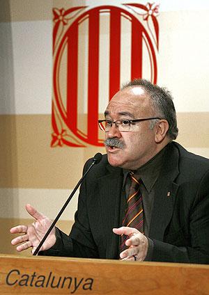 Josep Lluís Carod Rovira en la rueda de prensa. (Foto: EFE)