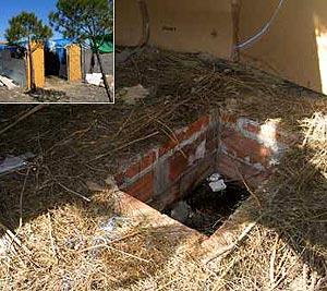 El agujero de la casa de Chinchón. (Foto: Fernando Quintela) VEA MÁS FOTOS