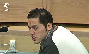 Rachid Aglif en el juicio. (Foto: LaOtra). Más imágenes y vídeos