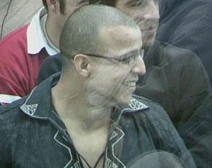 Rafa Zouhier en la sala blindada.