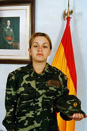 La soldado Idoia Rodríguez Buján. (Foto: EFE)