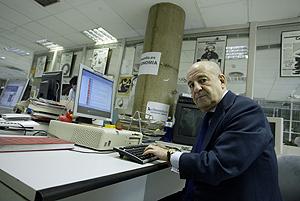 José Mª García, en la redacción de elmundo.es (Foto: Kike Para)