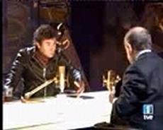 Quintero y García, en el fragmento de entrevista que sí emitió TVE. (Foto: Corporación Multimedia)