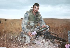 Jorge Laíño, uno de los soldados heridos. (Foto: Pablo Silva)