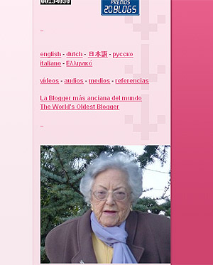 'A mis 95 años', el blog de la abuela de la blogosfera.