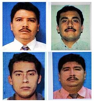 De izquierda a derecha y de arriba a abajo, Luis Herrera, José López, José Gutiérrez y Marvin Escobar. (Foto: AFP)