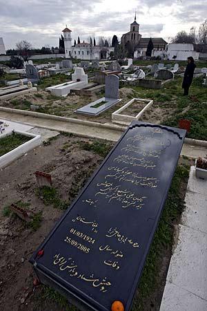 Lápidas en el cementerio musulmán de Griñón. (Foto: Alberto Cuéllar)