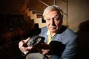 David Attenborough, durante la entrevista. (Foto: Kike Para)